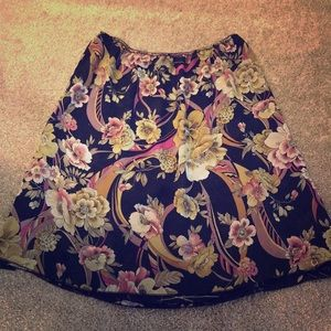 Reversible A-line skirt, 2 skirts in 1!